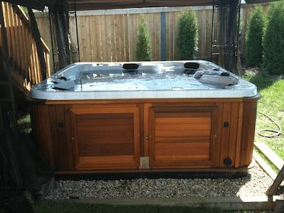 arctic spas hot tub Ten Year Old Used Hot Tub Still Looks Good